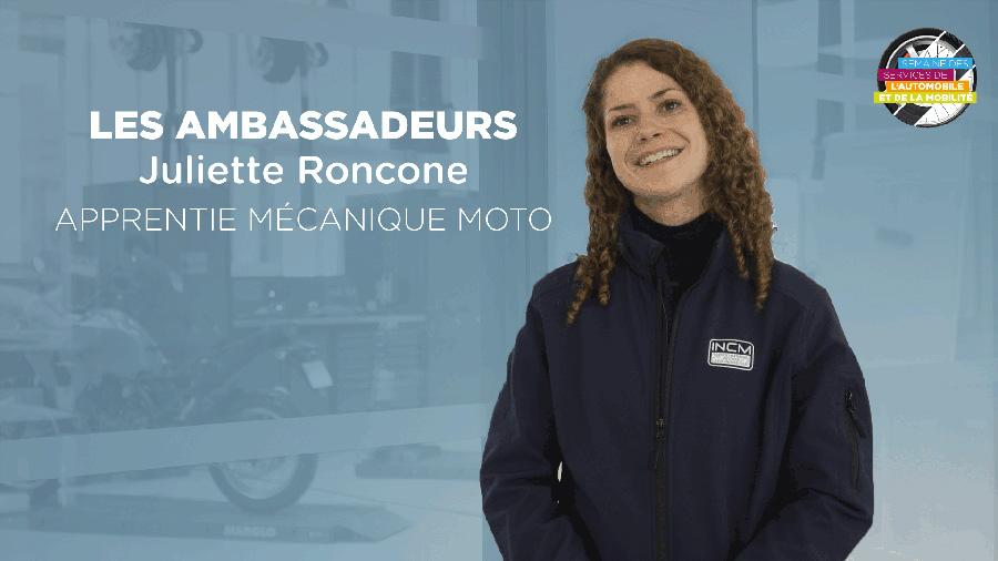 Ambassadeur SSAM 2020: Juliette, apprentie mécanicienne moto